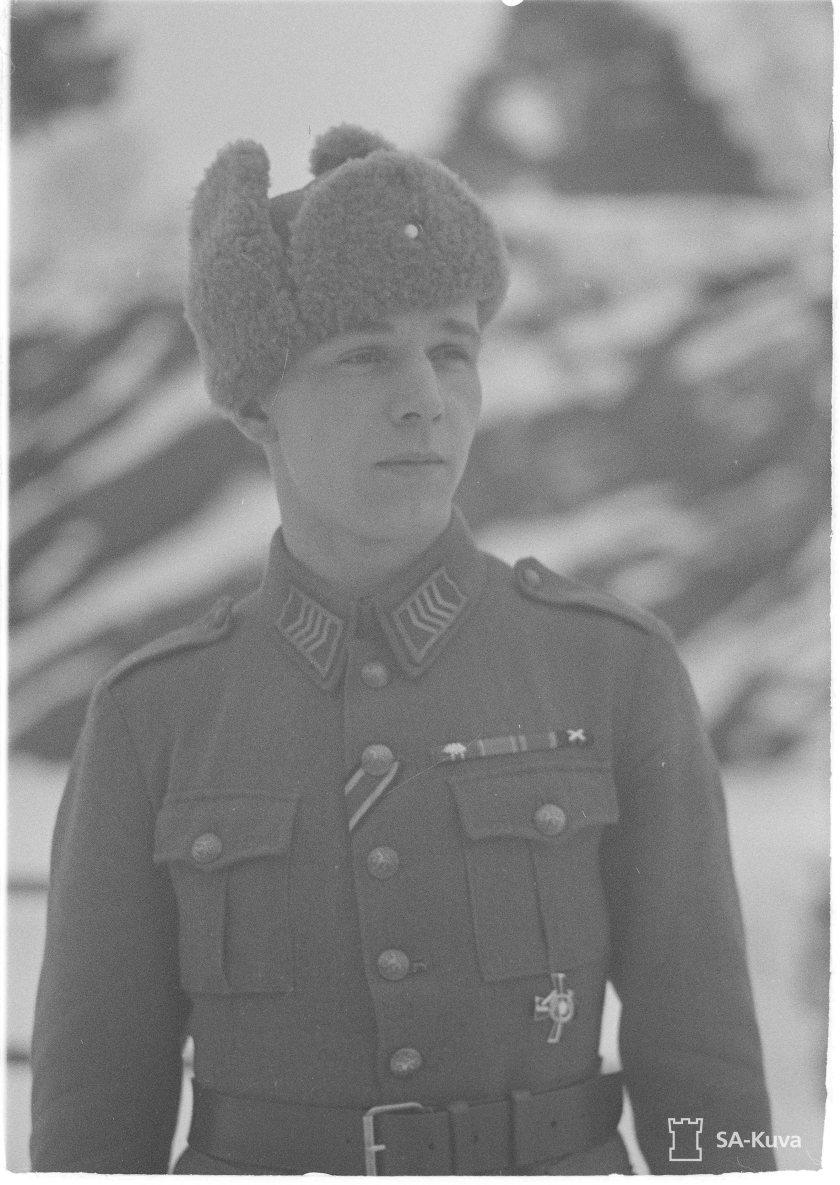 Ylikersantti Mikko Pöllä.